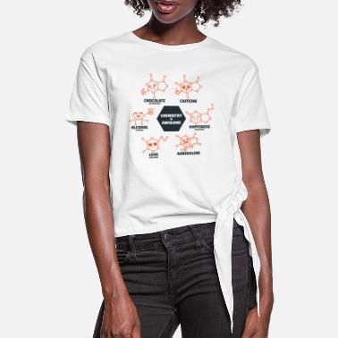 Molecule Chemistry is awesome chemistry sayings - Women's Knotted T-Shirt