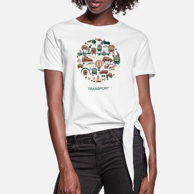 Transportation transport - Women's Knotted T-Shirt