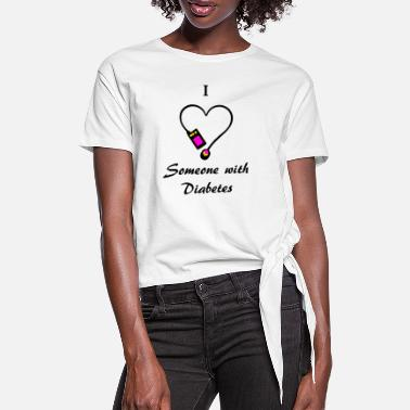 I Love Someone With Diabetes - Pump 2- P/O - Women's Knotted T-Shirt