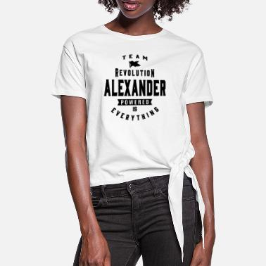 Name Alexander - Women's Knotted T-Shirt