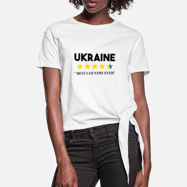 Ussr Funny Ukrainian saying about Ukraine gift - Women's Knotted T-Shirt