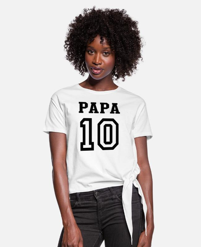 Papa 2010 T-Shirts - PAPA 2010 - Women's Knotted T-Shirt white