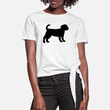 Puppy Puppy - Women's Knotted T-Shirt