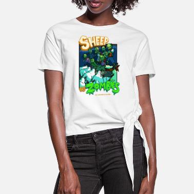 B Movie sheep vs zombies - T-shirt à nœud Femme