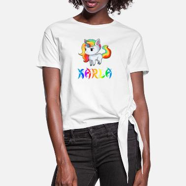 Karla Karla unicorn - Women's Knotted T-Shirt
