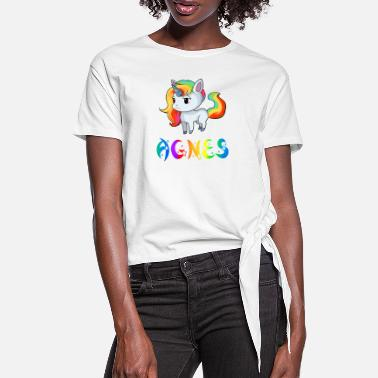Agnes Unicorn Agnes - Women's Knotted T-Shirt