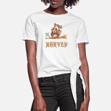 Harvey Owl Harvey - Women's Knotted T-Shirt