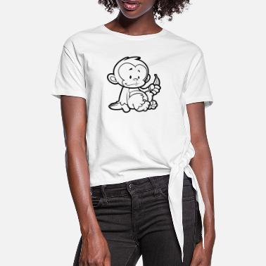 Cheeky Monkey - Women's Knotted T-Shirt