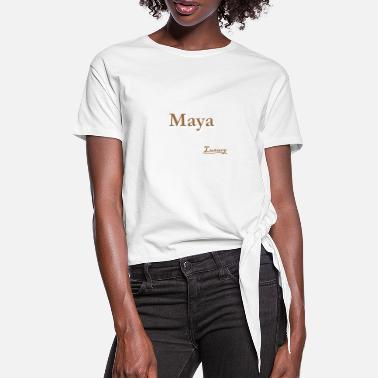 Maya Maya - Women's Knotted T-Shirt