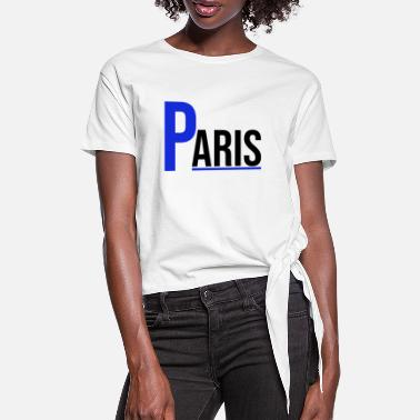 Nationalflag Frankrigs hovedstad i Paris - Dame knot-shirt
