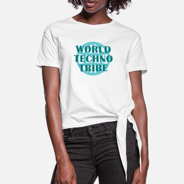 Techno Music World techno tribe Music Geschenk Raving Konzert - Frauen Knotenshirt