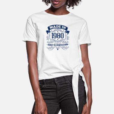 Birthday 1980 birthday matured to perfection - Women's Knotted T-Shirt