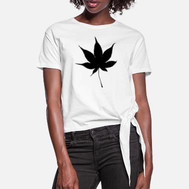 Hemp Leaf Hemp leaf - Women's Knotted T-Shirt