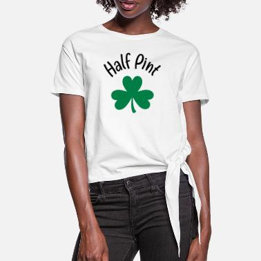 Pint Half Pint Clover - Women's Knotted T-Shirt