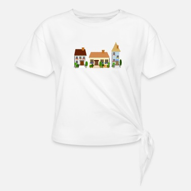 Old Town street of old town - Knotted T-Shirt