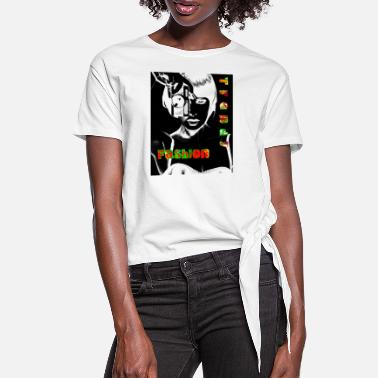 Mode-techn Mode - T-shirt à nœud Femme