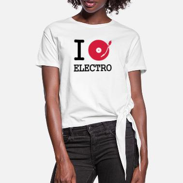 Stereo I dj / play / listen to electro - T-shirt med knut dam