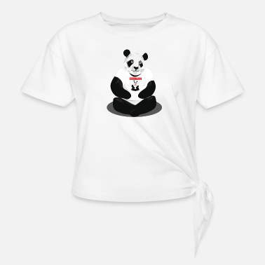 panda hd - Knotted T-Shirt