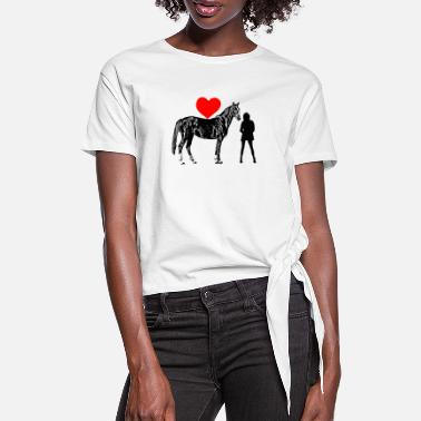 Geyser horse - Women's Knotted T-Shirt