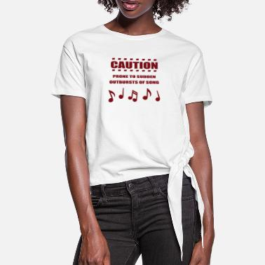 Pron Prone Sudden Of Song - T-shirt à nœud Femme