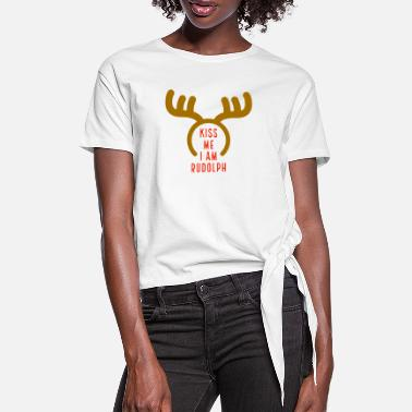 Rudolph the reindeer - Women's Knotted T-Shirt