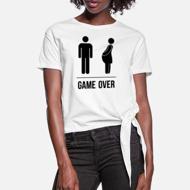 Game Over Game Over - T-shirt à nœud Femme