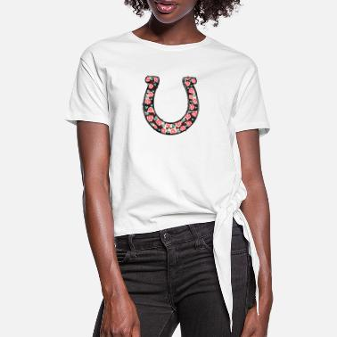 Horseshoe Horseshoe - Women's Knotted T-Shirt