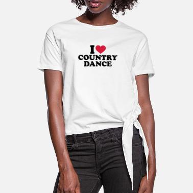 Country I love Country dance - Camiseta con nudo mujer