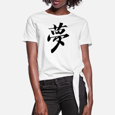 Chinese Sign Dream - Chinese Sign - Women's Knotted T-Shirt