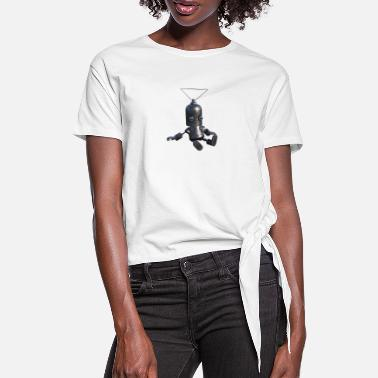 Tired robot - Knotted T-Shirt