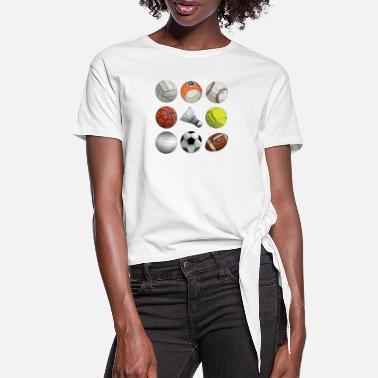 Sports ball Sports - Women's Knotted T-Shirt