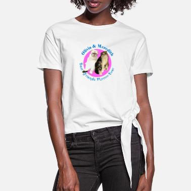 OLIVIA AND MEREDITH - Women's Knotted T-Shirt