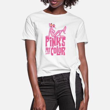 Rosarote Panther Pink Panther Pink's My Color - Frauen Knotenshirt