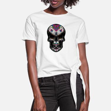 Sugar sugar skull - Women's Knotted T-Shirt