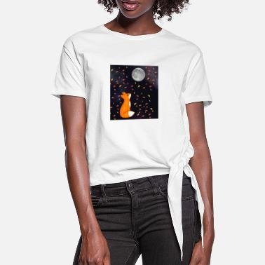 Dream Underwear A fox's dream - Women's Knotted T-Shirt