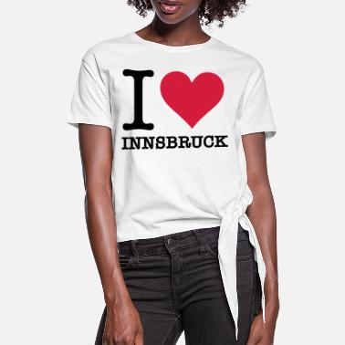 I Love Innsbruck - Women's Knotted T-Shirt