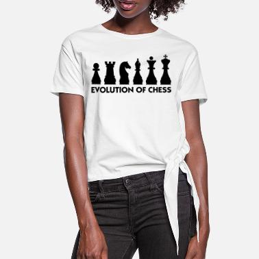 Origin The Evolution of Chess - Women's Knotted T-Shirt