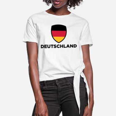 National flag of Germany - Women's Knotted T-Shirt