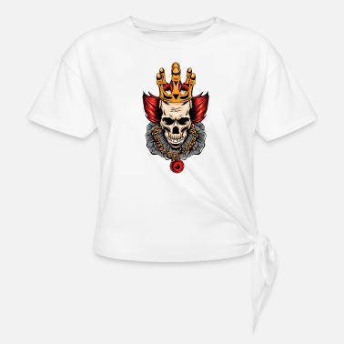 Skull of the clown king - Knotted T-Shirt