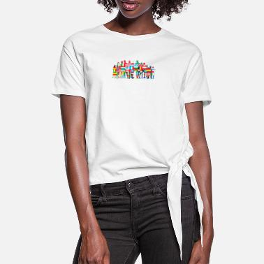 Community World Community - Vrouwen Geknoopt shirt