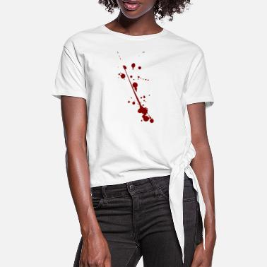 Spatter blood spatter - Women's Knotted T-Shirt