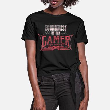 Economist gamer gift - Women's Knotted T-Shirt