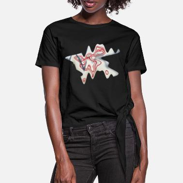 Abstrakt Design by EveNord 3D - Frauen Knotenshirt