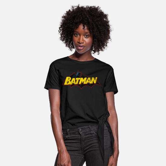 Cool T-shirts - Batman 'Bat' Women T-Shirt - Vrouwen Geknoopt shirt zwart
