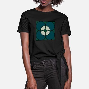 Teal Teal - Women's Knotted T-Shirt