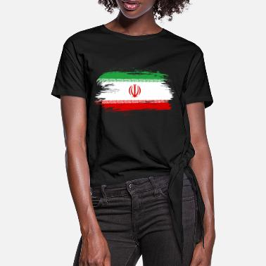 Iran Flag Iran flag - Women's Knotted T-Shirt