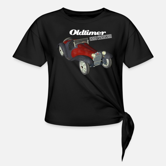 Vintage Car T-Shirts - Oldtimer on Tour - Knotted T-Shirt black