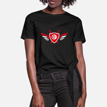 Djerba Tunisia wings / gift Djerba coat of arms - Women's Knotted T-Shirt