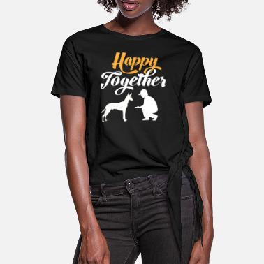 Siluett Happy Together - Faraoh Dog & Dog Owner - T-shirt med knut dam