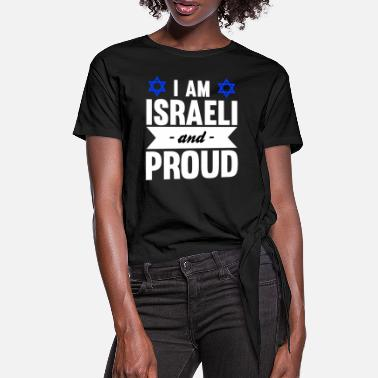 Funny Israeli saying Israel gift - Women's Knotted T-Shirt